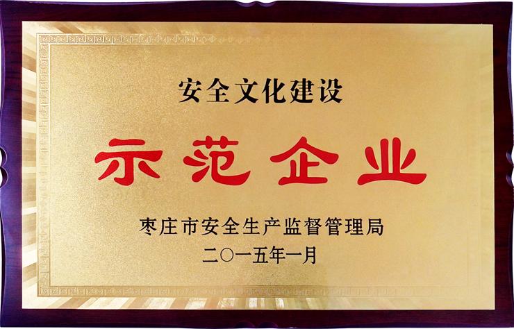 枣庄市安全文化建设示范企业